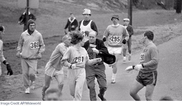 Boston marathon Kathrine Switzer