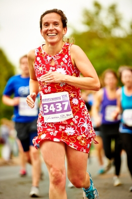 Juliet McGrattan in Nuu Muu women's running dress
