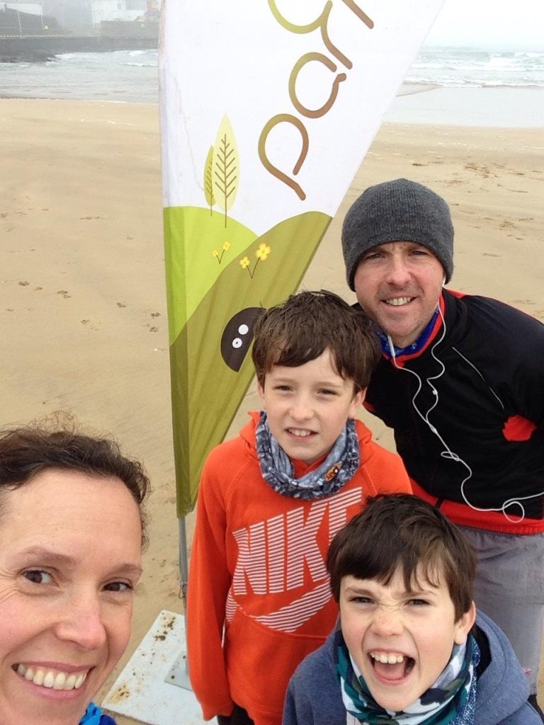 family running Parkrun