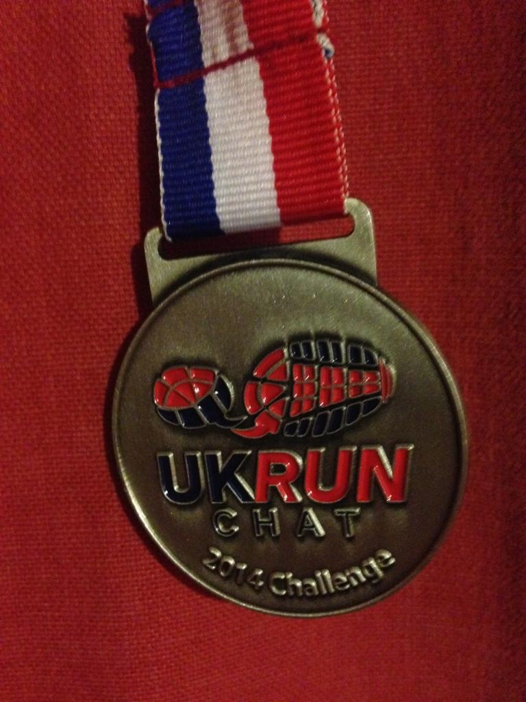 UKRunchat medal 10k run