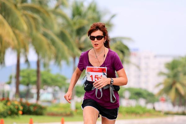 Shona Thomson running marathon