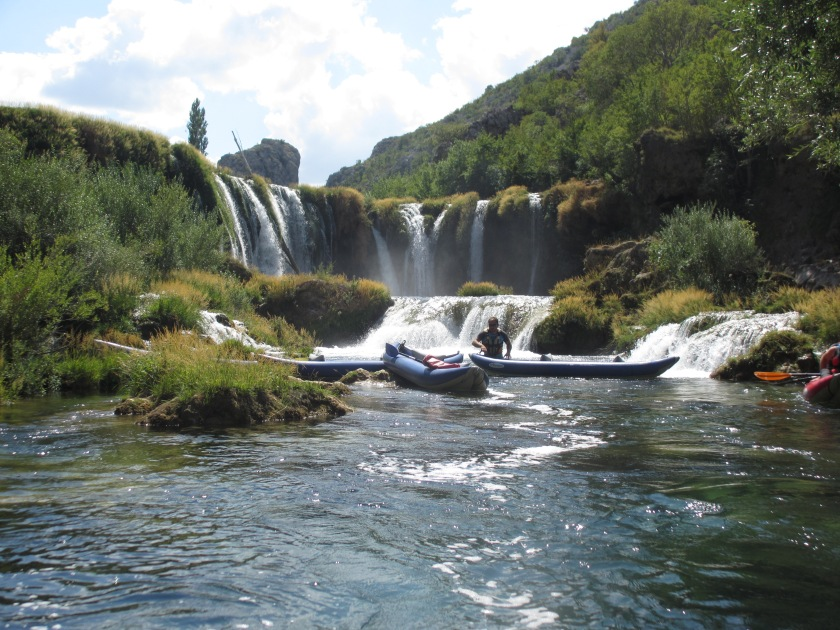 waterfall kayak